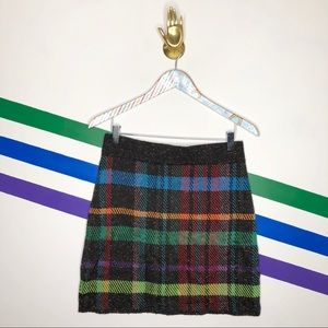 NEW Cecilia Prado Plaid Mini Skirt